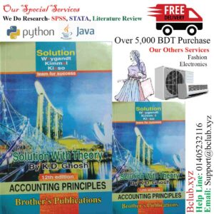Solution of Accounting Principles 12th edition by K.D. Ghosh