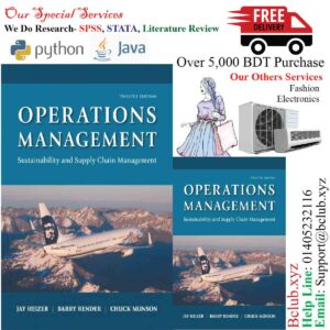 Operations Management: Sustainability and Supply Chain Management, 12th edition Jay Heizer Barry Render Chuck Munson