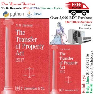 Jhabvala Law Series The Transfer of Property Act For BSL, LL.B by Noshirvan H. Jhabvala - C. Jamnadas, 2017 Edition by Noshirvan H. Jhabvala