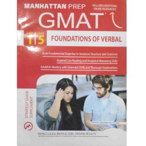 GMAT Foundations of Verbal (Manhattan Prep GMAT Strategy Guides) 1/5 by Manhattan Prep (Author) (White Print)