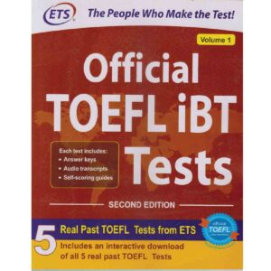 Official TOEFL iBT Test Vol-1 . Each test includes: Answer keys, Audio transcripts, Self-scoring guides.5 Real Past TOEFL Tests From ETS