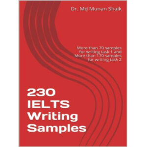 230 IELTS Writing Sample Dr. Md Munan Shaik